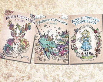 Lot 3 coloring books