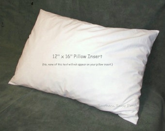 "Toddler Pillow Insert , 12"" x 16"" Pillow Form , Add On to SouthernSassyPants Pillowcase"