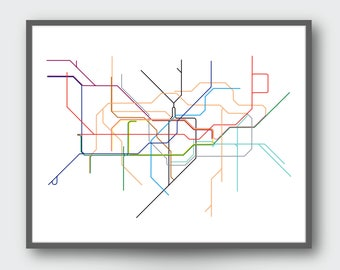 London Underground Map - Minimalistic - Digital Print