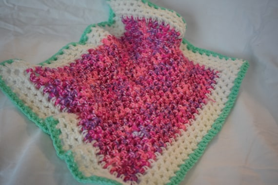 Gradient Pink & Seafoam Green Cat Mat and Carrier Liner  -- Gradient Pet Blanket with Pink, Green, and White