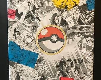 Custom Comic Collage Art on Canvas - Pokemon