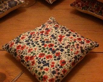 Pin cushion, handmade with Liberty fabrics, Phoebe