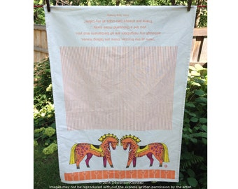 Scandi Horse Tea Towel, Kitchen Towel, Gift Towel