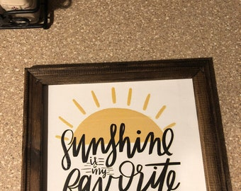 Sunshine is my favorite color