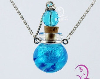 1pc Murano glass diffuser essential oil necklace(Assorted Colors),Aroma bottle necklace,Scent necklace