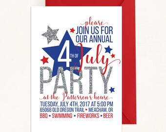 4th of july party 4th of july invitation 4th of july party