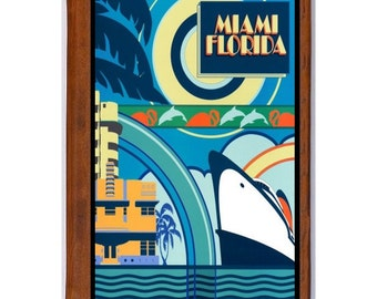 MIAMI 5- Handmade Leather Photo Album - Travel Art