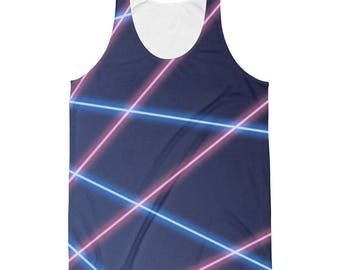 90s Tank Top // 80s Tank Top // Retro Tank Top // Vintage Tank Top // Laser Beam Tank Top // 90s Picture day Background // Festival Clothing