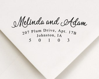 Return Address Stamp  - Calligraphy Style Font - Address Stamp - Wedding Invitations - Self Inking - Gift For Her - Personalized Gift  (133)