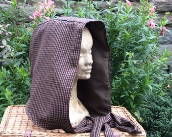 Tweed Hood, Hand Dyed Snood, Scoodie