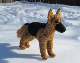 German Shepherd PDF Crochet Pattern  - Digital Download - ENGLISH ONLY