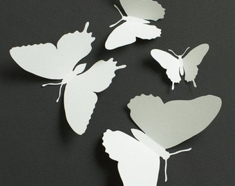 Paper Butterflies, White Butterfly Garden Wedding Table Decor