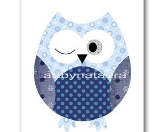Printable Art Owl Decor Owl Nursery Kids Room Decor Instant Download Print Digital Download Baby Boy Nursery Art Kids Wall Art 8x10 11X14
