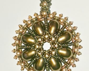 Dome of Pearls Kit-Antique Brass & Vintage Gold