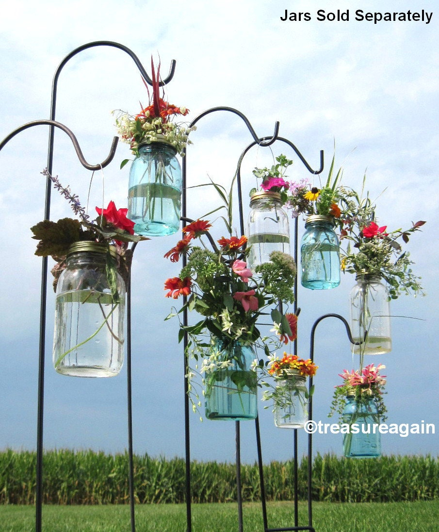 Wedding Aisle Mason Jar DIY Hanging Flower Vases or Lanterns 8