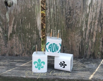 Monogram decal, iPhone charger decal stickers, wrap around, cell phone decal, phone charger decal, phone charger wrap, iPhone accessories