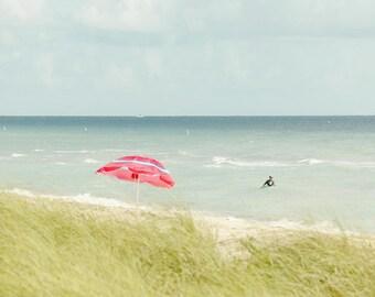 Red Umbrella Florida Beach Photography Dreamy wall decor