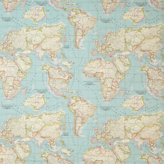 Map fabric world map fabric fabric map of the world world zoom gumiabroncs Image collections