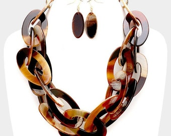 Celluloid Chain Necklace