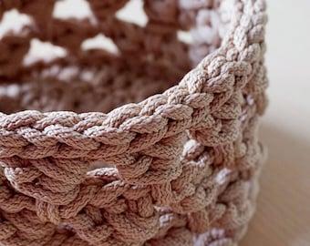 Crochet basket pattern - Crochet PDF - Cord basket pattern - Cord basket PDF - Nursery basket - Easy crochet basket for beginners - Storage