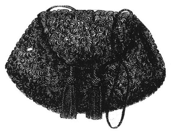 AG1574 1868 Tasche Muff Schnittmuster durch zeitlose Muster