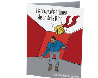 DRAKE CHRISTMAS CARD  |  Hotline Bling  | Recycled Greeting card