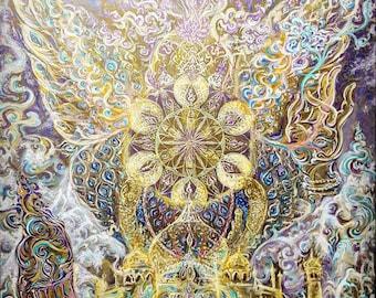 Sahasrara-Crown Chakra - Original Painting - Artprint - Energised Art - Deco Banner