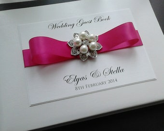 Pearl Flower Guest Book
