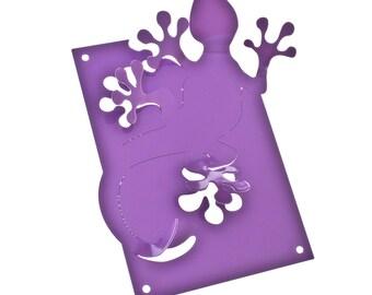 Gecko Jewellery Hanger in lilac powder coated steel