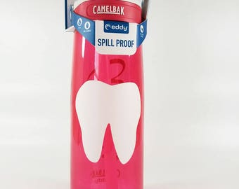 Personalized .75L CamelBak® Bottle - Tooth & Name - Water Bottle, Dentist, Hygienist, Dental, Orthodontist, Teeth, Periodontist, Pedodontist