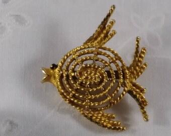 SALE!  Mamselle Fish Vintage Brooch 1970's