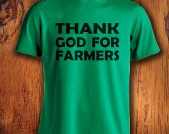 Men's Farm Tshirt Thank God for Farmers farmer shirt farming shirt shirt for farming  mens farming shirt shirt for farmersChristmas Gift