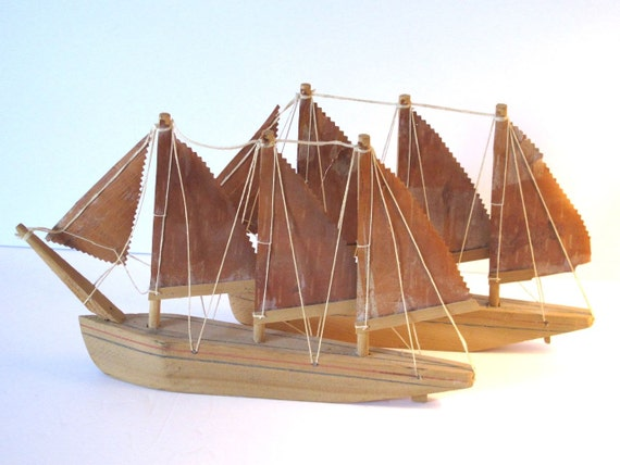 Nautical Decor Souvenir Sailboats Prince Edward Island PEI