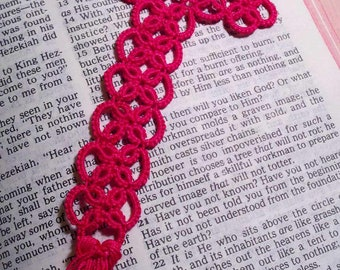 Tatted Cross bookmark - you pick the color