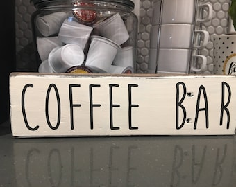 Handcrafted Coffee Bar Pallet Sign