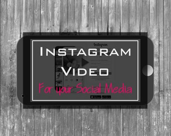 Instagram, Video, Slideshow, Animated Instagram, Social Media, Instagram, Video Montage, Video Facebook, Digital Marketing, Branding Package