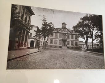 Vintage Sepia Photo of Old Colony House in Newport, Rhode Island