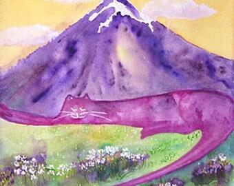 Mt. Fuji Cat - Summer
