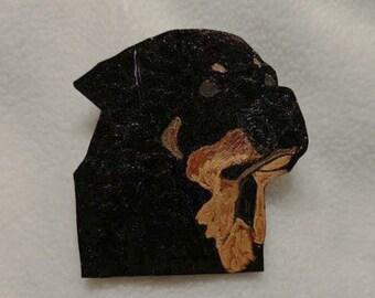 Rottweiler Head Pin
