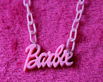 Barbie Necklace ~ kawaii statement necklace ~ kawaii jewelry ~ sweet lolita ~ fairy kei necklace ~ pastel goth