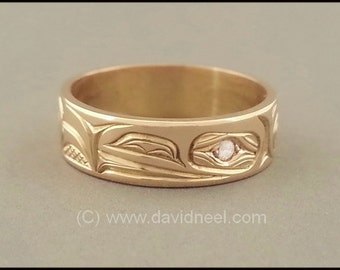 Raven Ring - Northwest Coast Native Indian