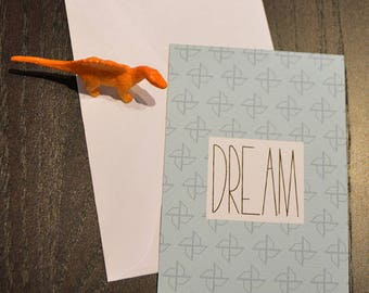 Dream pattern origami card