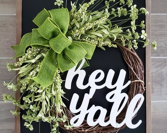Daisies & Berries Grapevine Wreath. Year Round Wreath. Spring Wreath. Summer Wreath. Door Wreath. Grapevine Wreath.