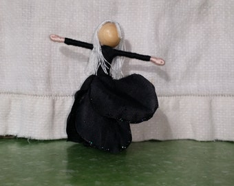 Black Rose Flower Fairy - Witch Flower Fairy Doll, Anti-Valentine