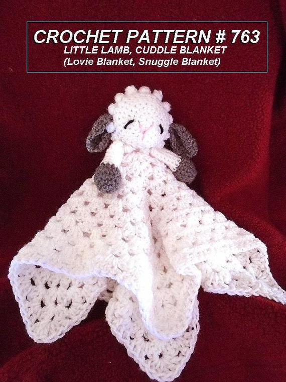 Crochet Pattern Little Baby Lamb Cuddle Blanket Baby Gift
