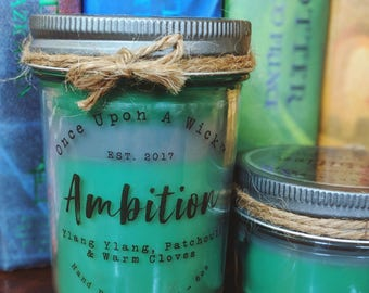 House Pride - Ambition | Slytherin Inspired Bookish Soy Candle