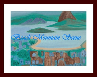 "11""x14"" Oil Painting Mountain Range"