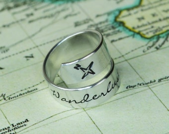 Wanderlust Traveler's Wrap Ring