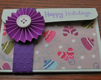 Holiday Pop-Up Gift Card Holder - Happy Holidays