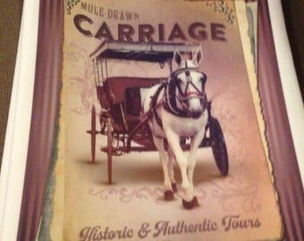 Mule Drawn Carriage Kitchen Towel